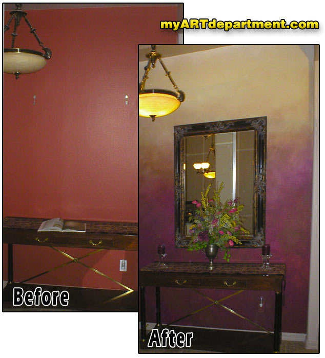 Bold Faux Finish Wall