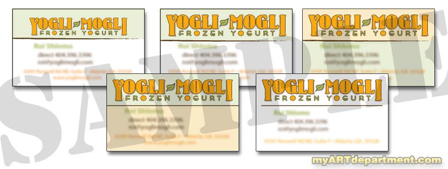 Yogurt shop business card design