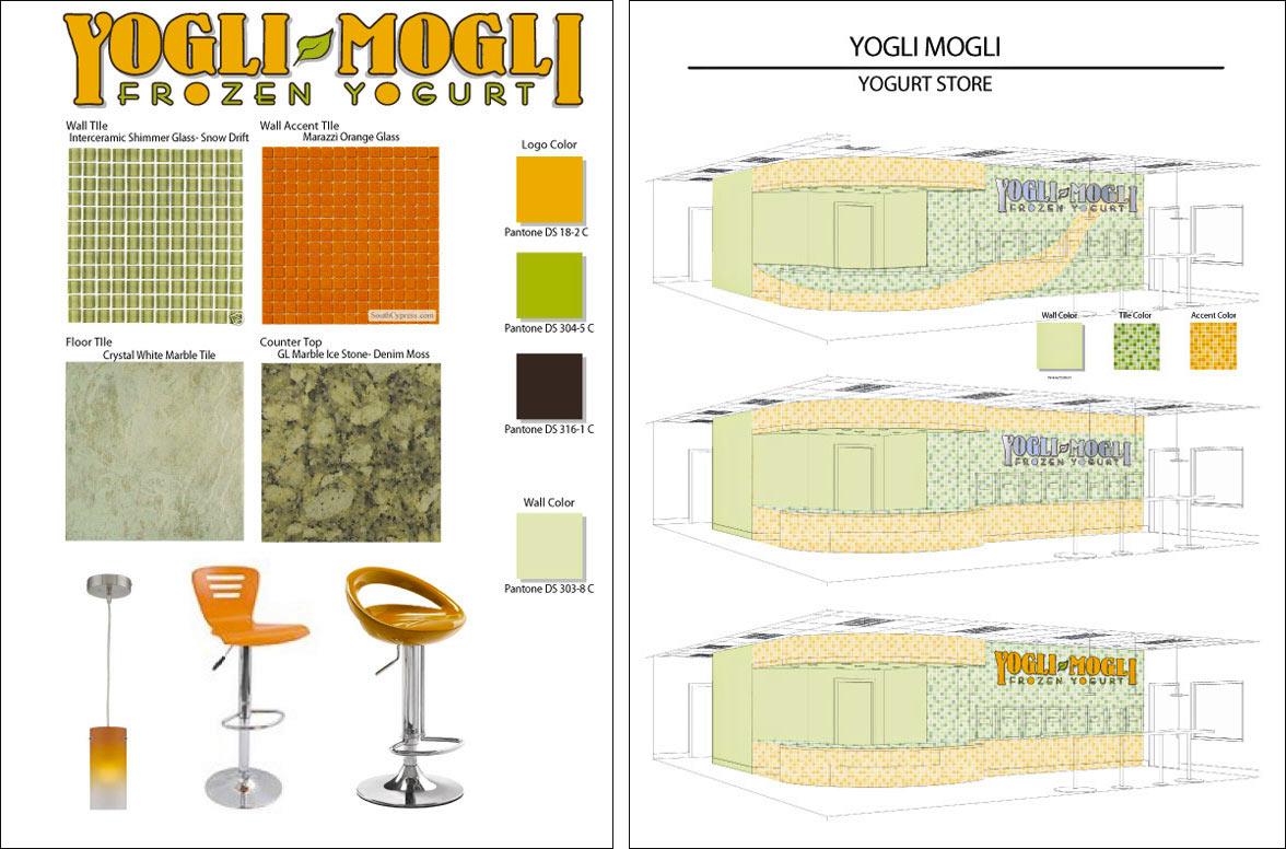 Yogurt Shop Interior Design